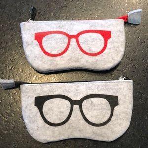 Handbags - Cute zippered felt glasses case 👓🕶👓